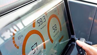 TETT PÅ 60: Med standardpropeller klarer vi akkurat ikke 60 knop. FOTO: Petter Handeland