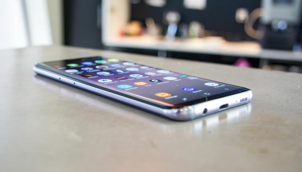 FLOTT: Galaxy S8+ er utstyrt med en stor og god 6,2 tommers AMOLED-skjerm. Den buede skjermen er mest et designelement og en mindre viktig del av skjermen når du for eksempel ser film.