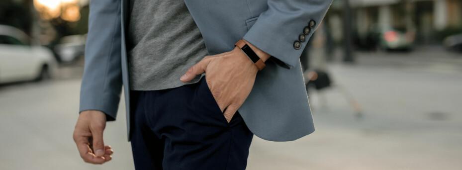 ELEGANT: Fitbit Alta HR har et elegant utseende. Remmen skiftes på noen sekunder.