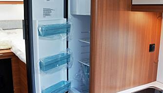 UVANLIG: Noe så uvanlig som en sval-avdeling finnes nederst i kjøleskapet. (FOTO: Torbjörn Stålenhag)