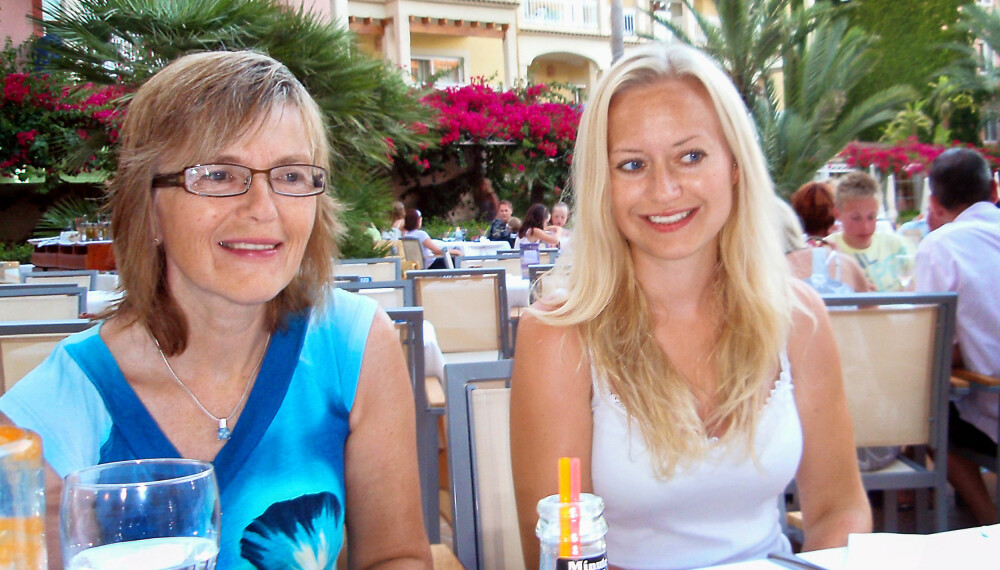 LYKKELIGE DAGER: Ann Mari Mellegård er takknemlig for alle de fine stundene hun fikk med datteren. FOTO: Privat.