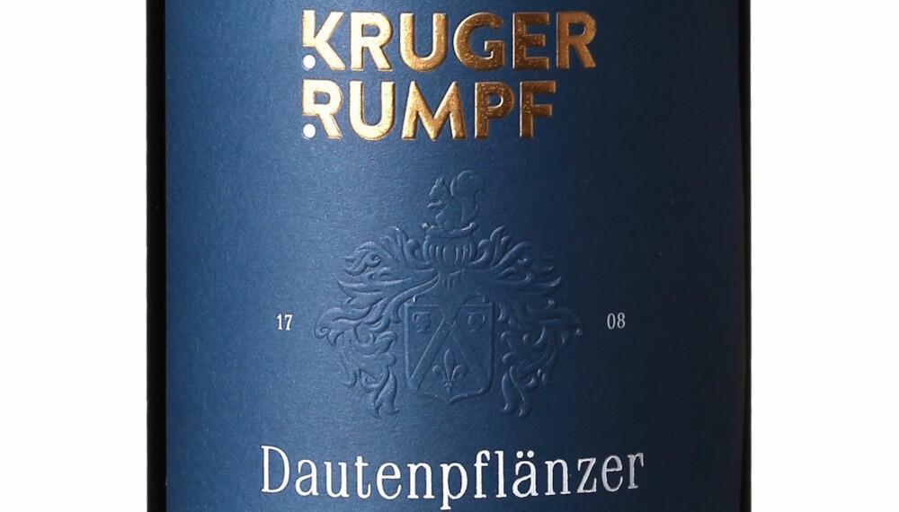 GODT KJØP: Kruger-Rumpf Dautenpflänzer Riesling GG 2015.