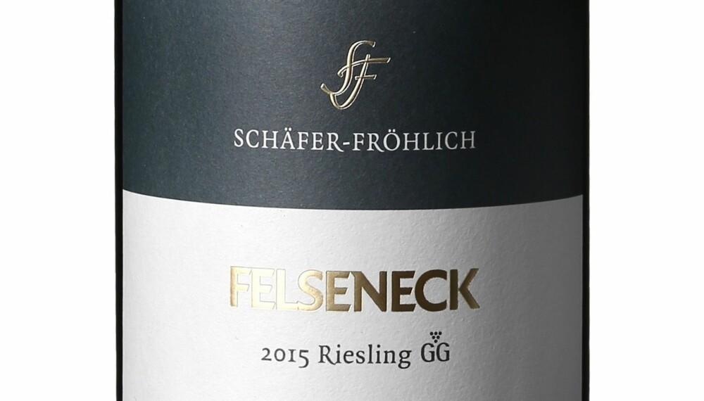 GODT KJØP: Schäfer-Fröhlich Felseneck Riesling GG 2015.