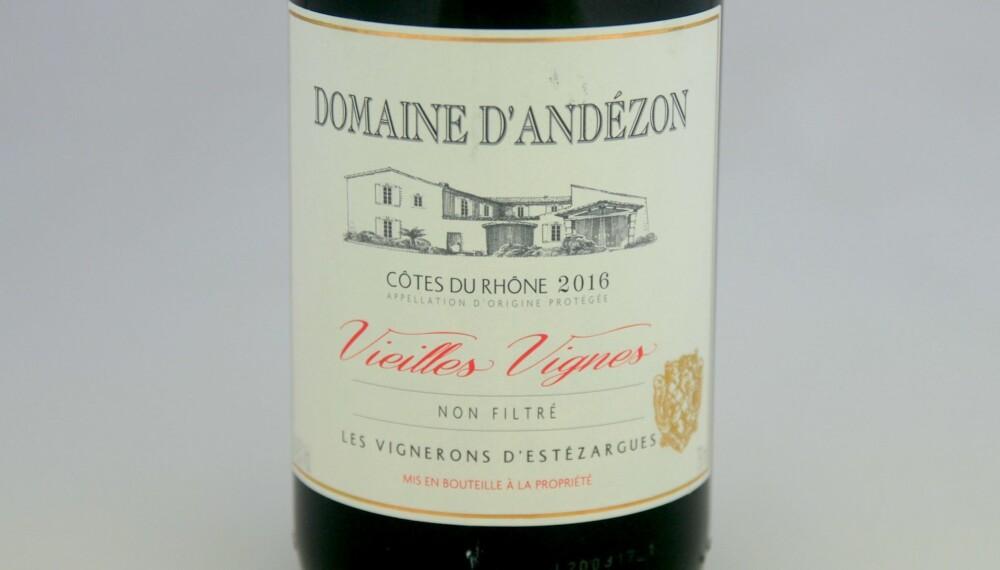 GRILLVIN: Domaine d'Andézon 2016.