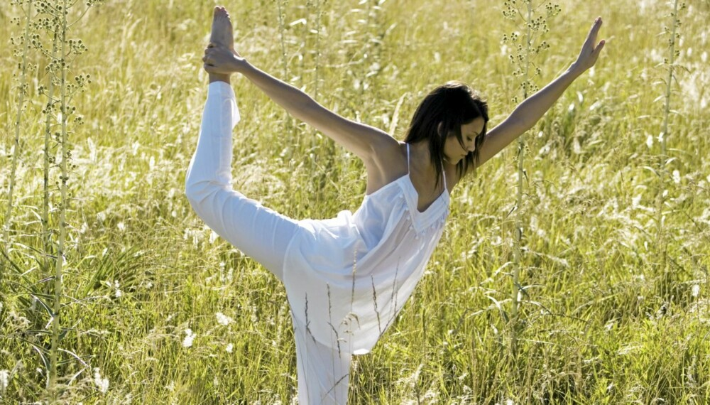 BALANSE: God balanse forteller mer om formen din enn at du kan stå lenge på ett bein.