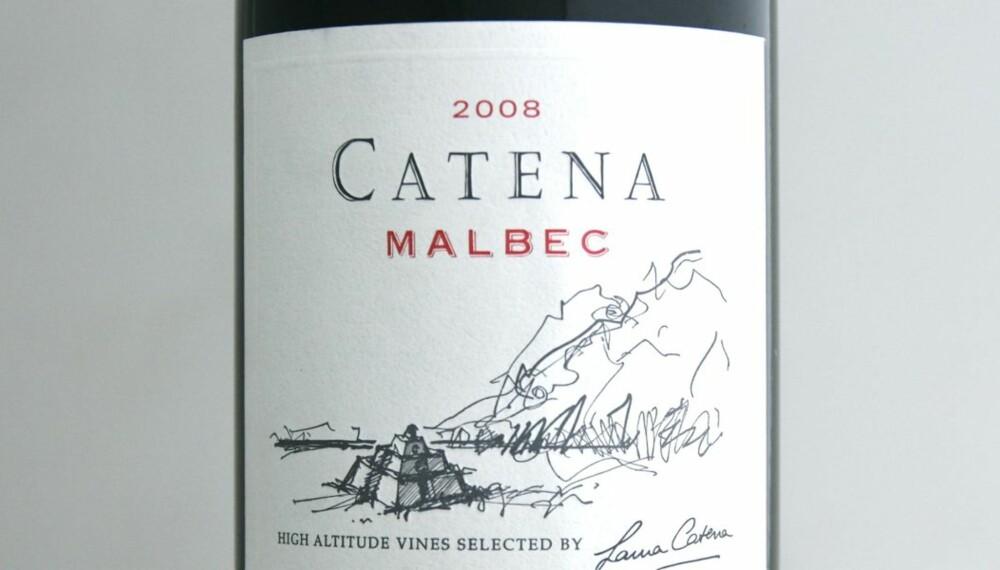 TEST AV GRILLVINER: Catena Malbec 2008 kom på delt tredjeplass i testen