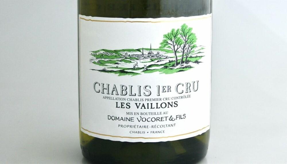 TEST AV CHABLIS: Vocoret Chablis 1er Cru Vaillons 2008 kom ut på topp i testen.