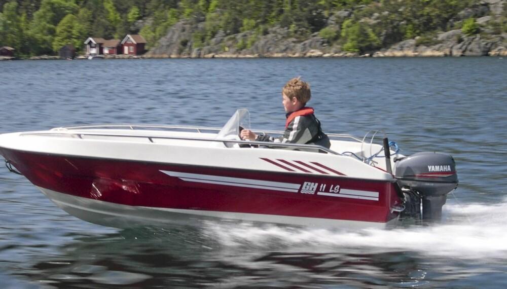 JOLLEKLASSIKER: GH 11 er en av de beste og mest populære ungdomsbåtene.