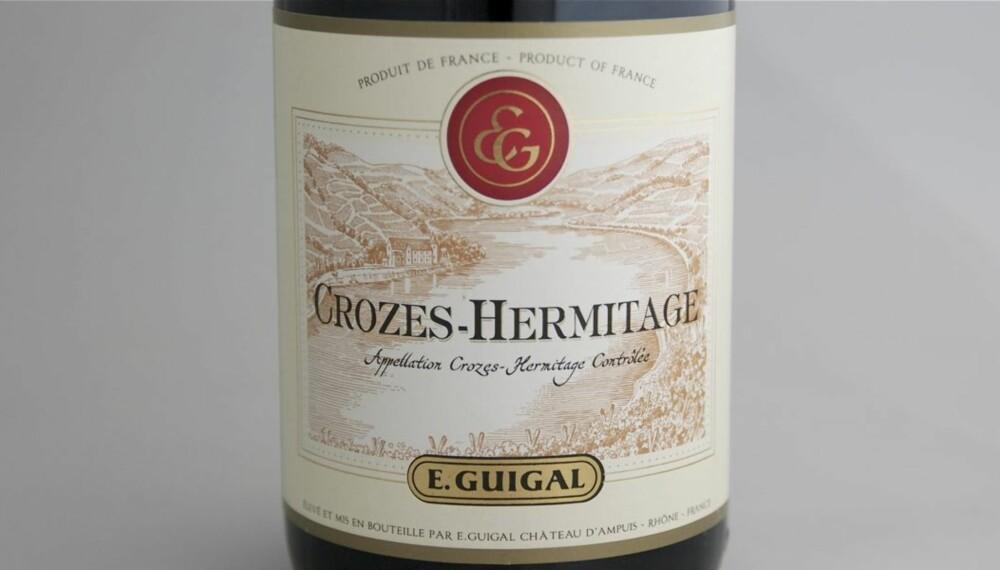 TEST AV CROZES-HERMITAGE: Guigal kom på femteplass i testen.