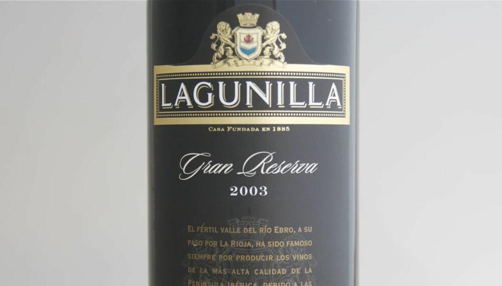 TEST AV RIOJA: Lagunilla Gran Reserva 2003 kom på delt førsteplass i testen.