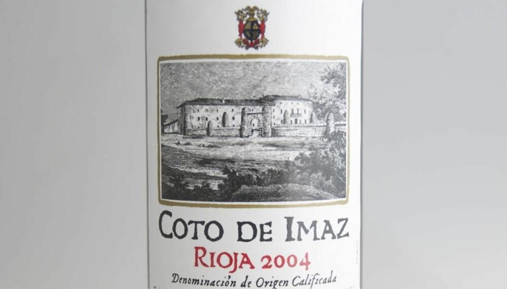 TEST AV RIOJA: Coto de Imaz Reserva 2004 kom på tredjeplass i testen.