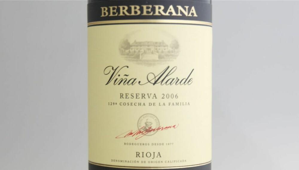 TEST AV RIOJA: Berberana Viña Alarde Reserva 2006 kom på fjerdeplass i testen.