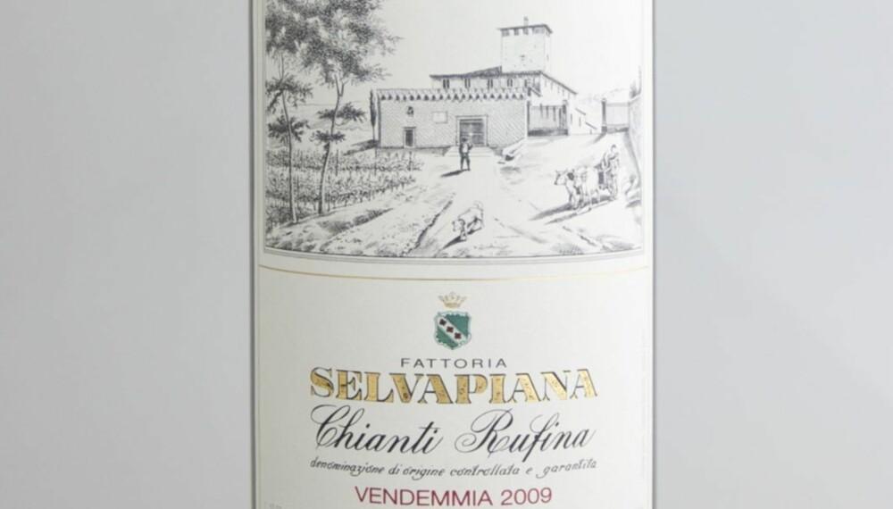 TEST AV CHIANTI: Selvapiana Chianti Rufina 2009 kom på delt fjerdeplass i testen.