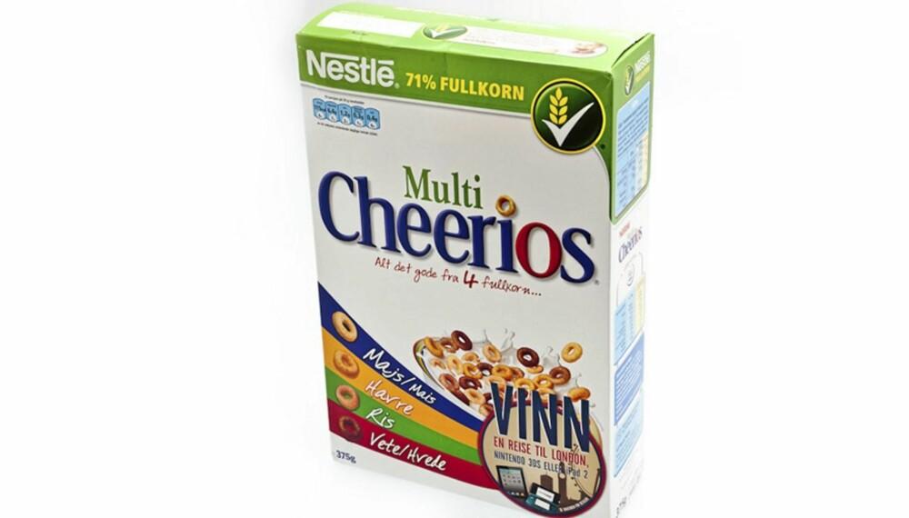 GROVHET TREKKER OPP: Denner er grovere enn andre frokostblandinger som markedsfører seg mot barn. Men innholder mye sukker.