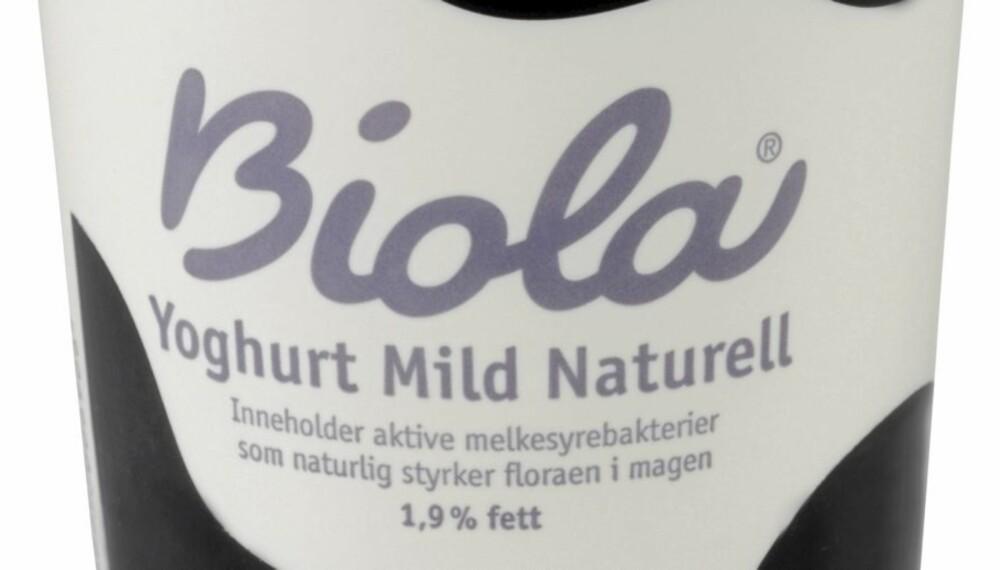 TESTVINNER: Biola naturell fra Tine ble testens vinner. Den inneholder lite fett og tilsatt sukker.
