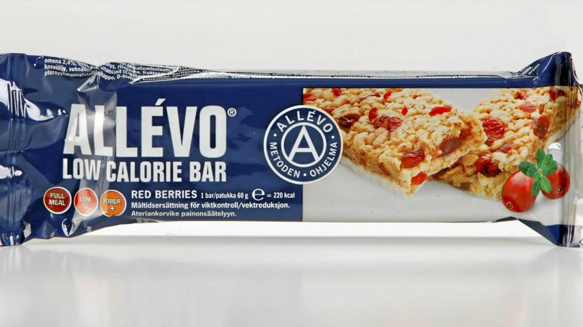 allévo low calorie bar