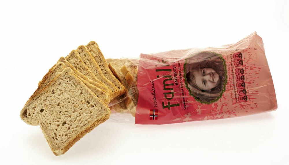brød, brødtest. mesterbakeren familie halvgrovt brød