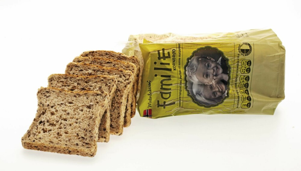 brød, brødtest, mesterbakeren familie kornbrød