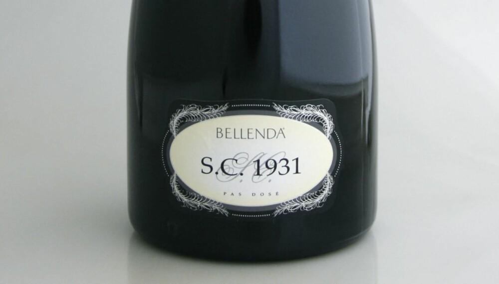 TEST AV PROSECCO: SC 1931 Prosecco di Conegliano-Valdobbiadene Brut 2009 kom på førsteplass i testen.