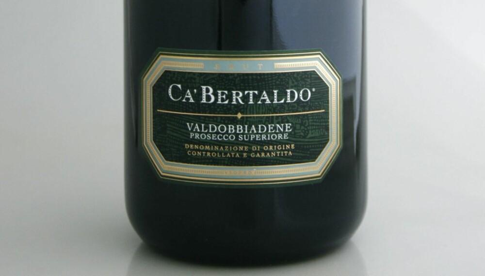TEST AV PROSECCO: Ca'Bertaldo Prosecco di Valdobbiadene Superiore Brut kom på delt andreplass i testen.