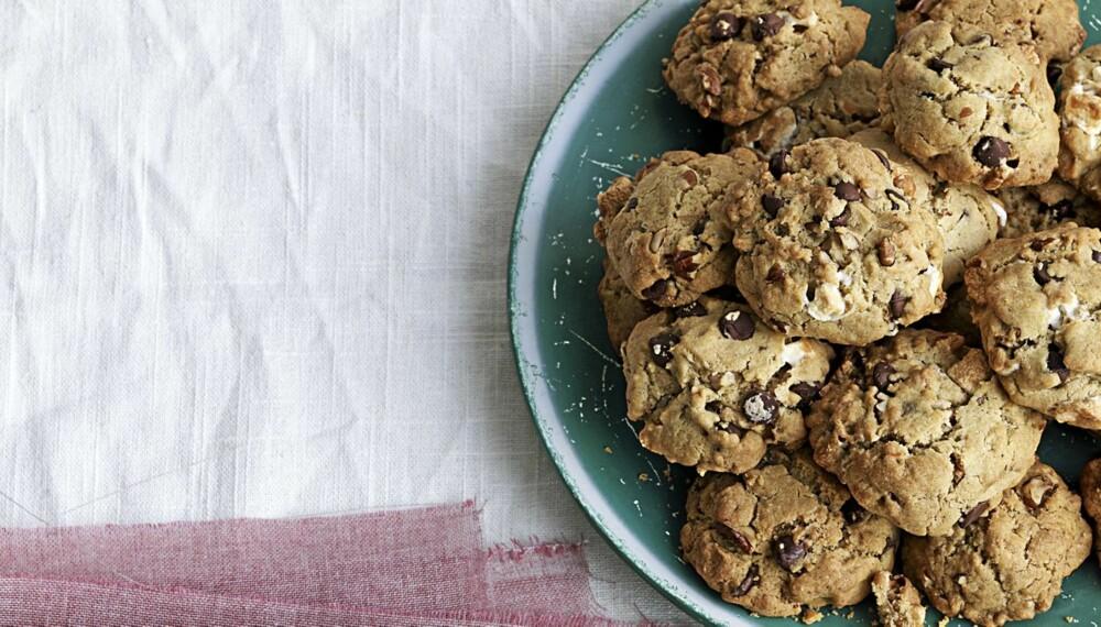 HERLIG HELGEKOS: Sjokoladecookies med marshmallows.