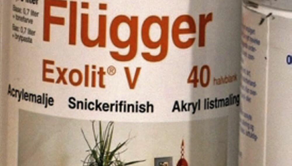 VANNLØSELIG MALING: Flügger, Exolit V 40.