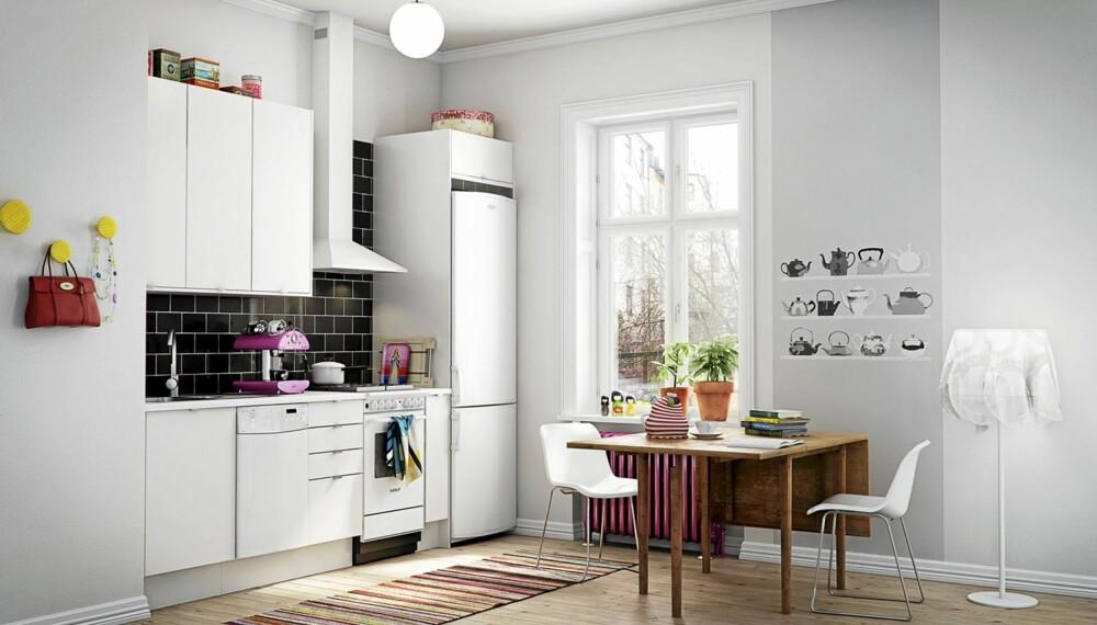 MARBODAL: Vinga hvit er Marbodal sitt rimeligste kjøkken