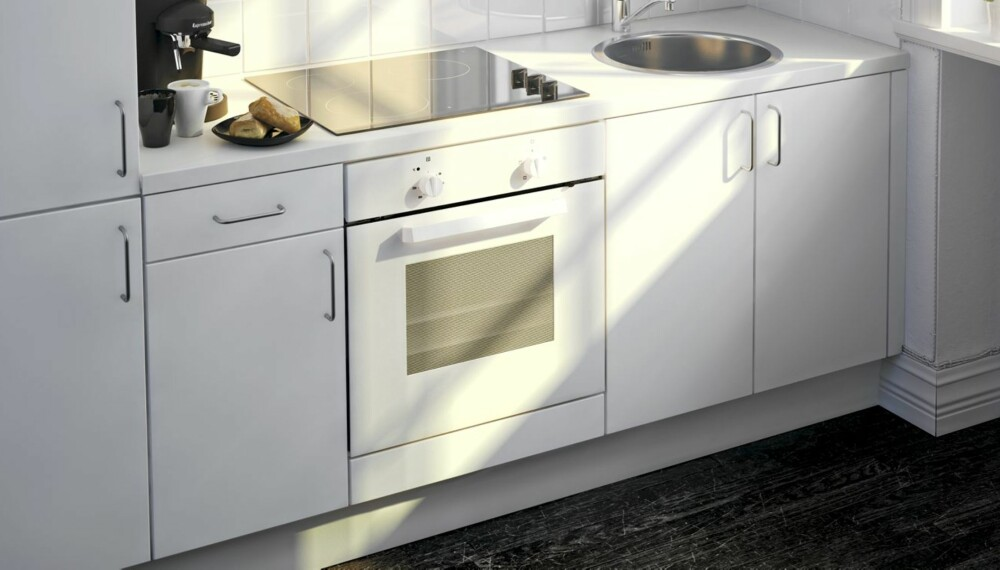 Hvitt kjøkken fra Ikea