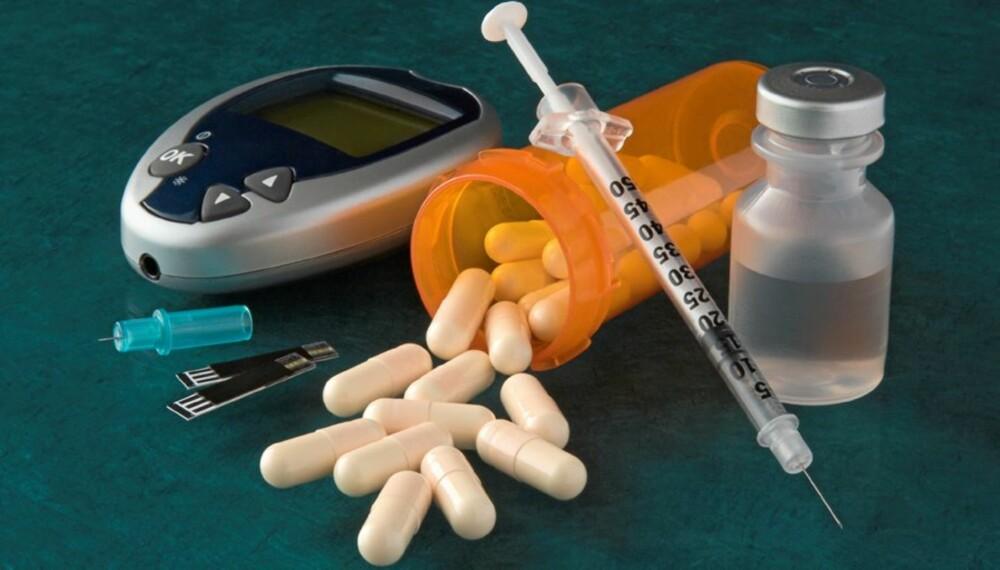 MEDISINER: Mange bruker medisiner ved diabetes