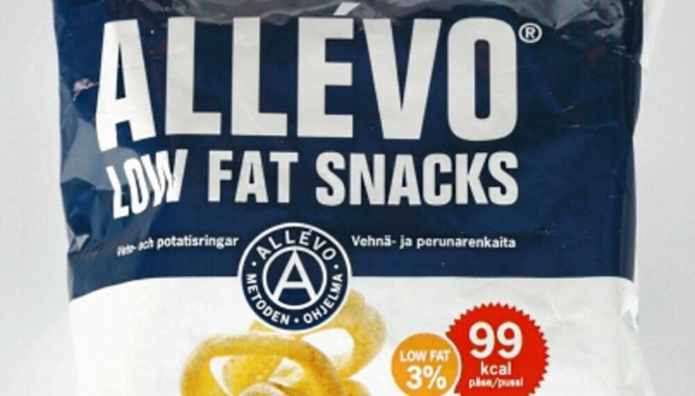 VONDT, MEN SUNT: Allévo Low Fat Snacks