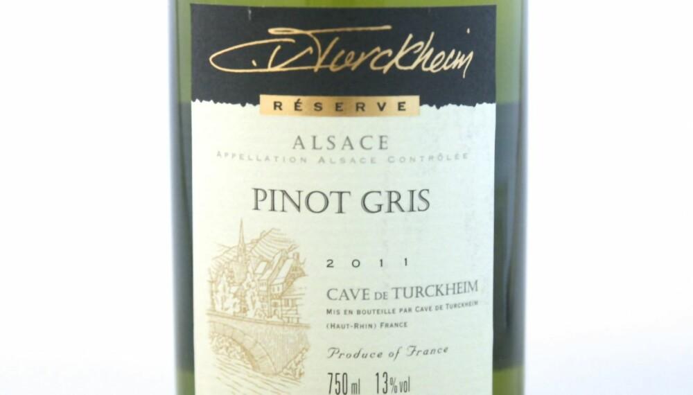 VIN TIL ASIATISK MAT: Turckheim Pinot Gris 2011.
