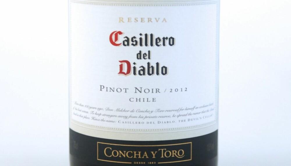 VIN TIL ASIATISK MAT: Casillero del Diablo Pinot Noir 2012.