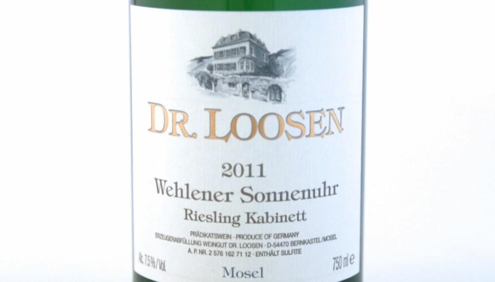 VIN TIL ASIATISK MAT: Wehlener Sonnenuhr Riesling Kabinett 2011.