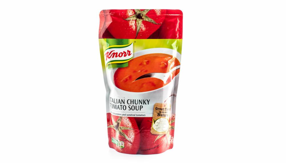TEST AV TOMATSUPPE: Knorr italian chunky tomato soup