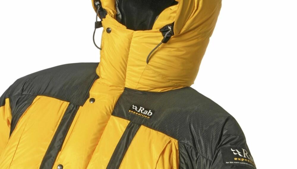 EKSTREME FORHOLD: Dunjakken RAB Expedition er en ekspedisjonsjakke for ekstreme forhold.
