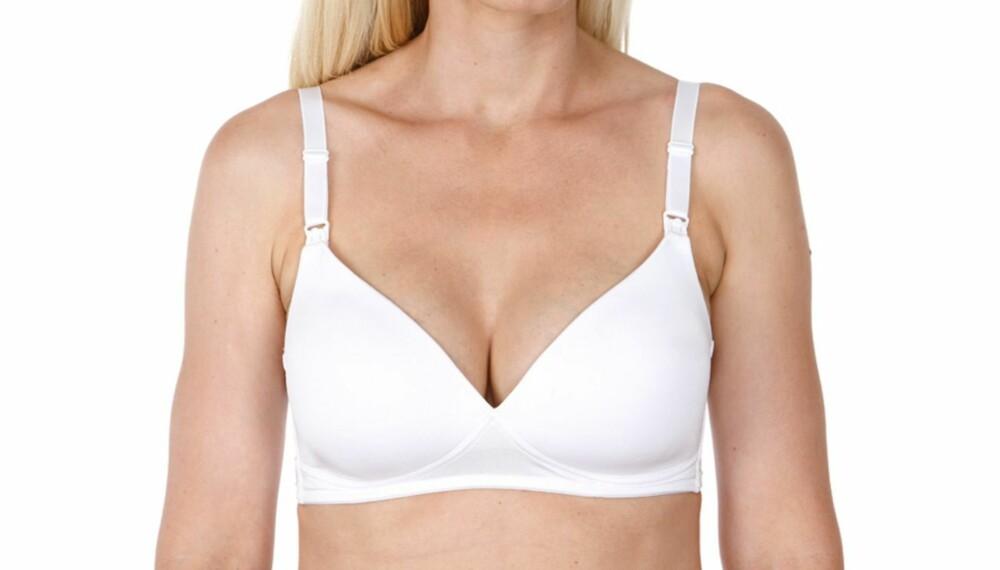 BRA PADDINGER: Paddingen i amme-bh-en fra Lindex gir brystene et løft og god beskyttelse.