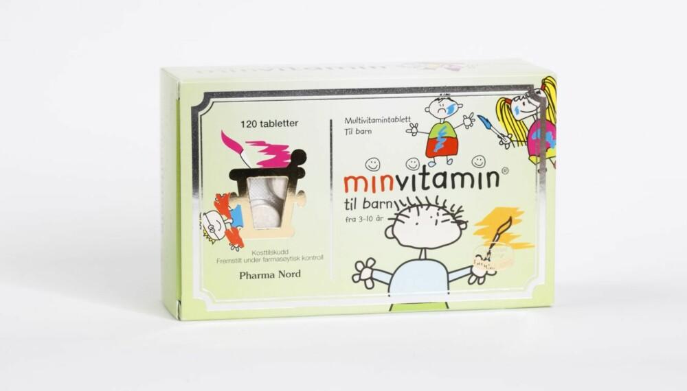 VITAMIN- OG MINERALTILSKUDD: Min Vitamin 3-10 år