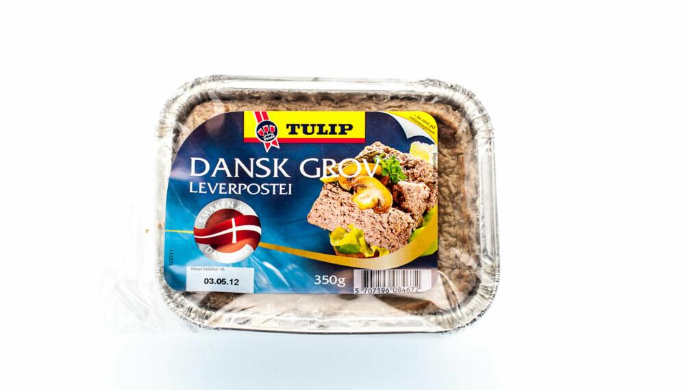 TEST AV LEVERPOSTEI: Tulip Dansk Grov leverpostei