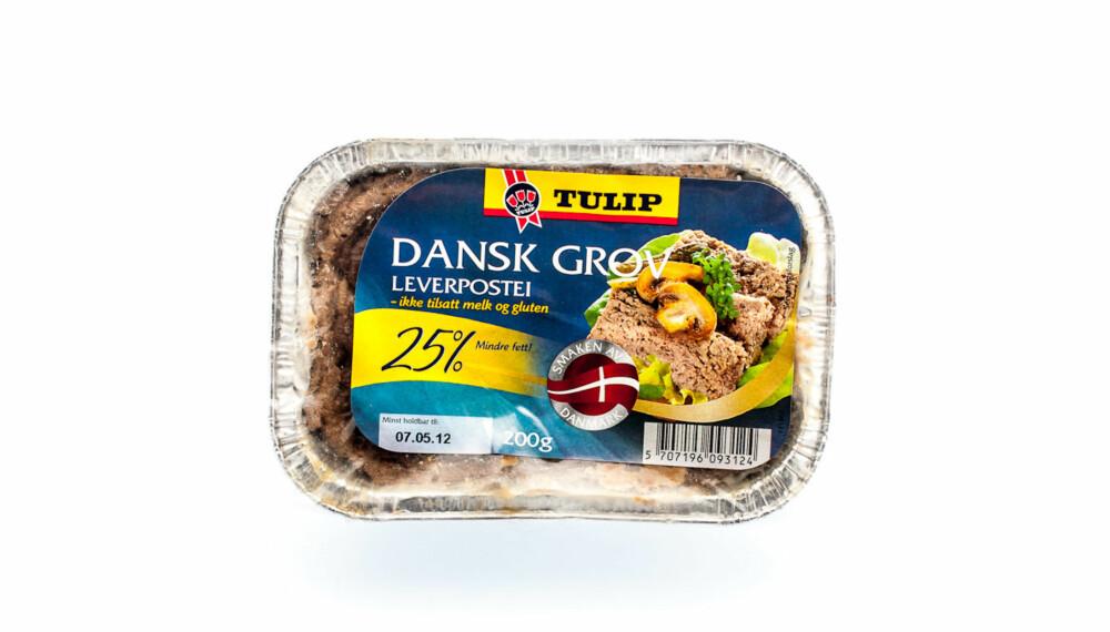 TEST AV LEVERPOSTEI: Tulip Dansk grov leverpostei - 25 % mindre fett