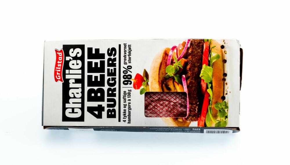 TEST AV HAMBURGERE: Charlie's 4 beefburgers