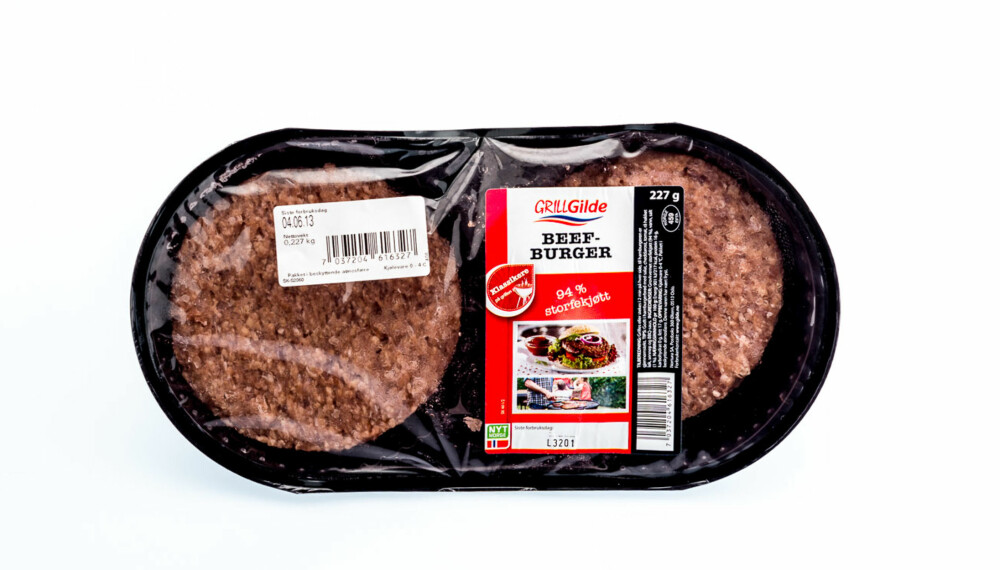 TEST AV HAMBURGERE: Grillgilde beefburger