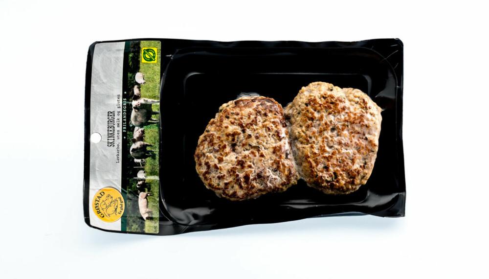 TEST AV HAMBURGERE: Grøstad gris skinkeburger