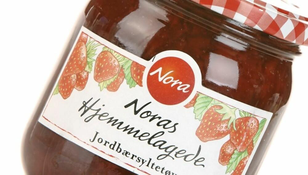 DYREST ER BEST: Jordbærsyltetøyet fra Nora er verdt hver krone.