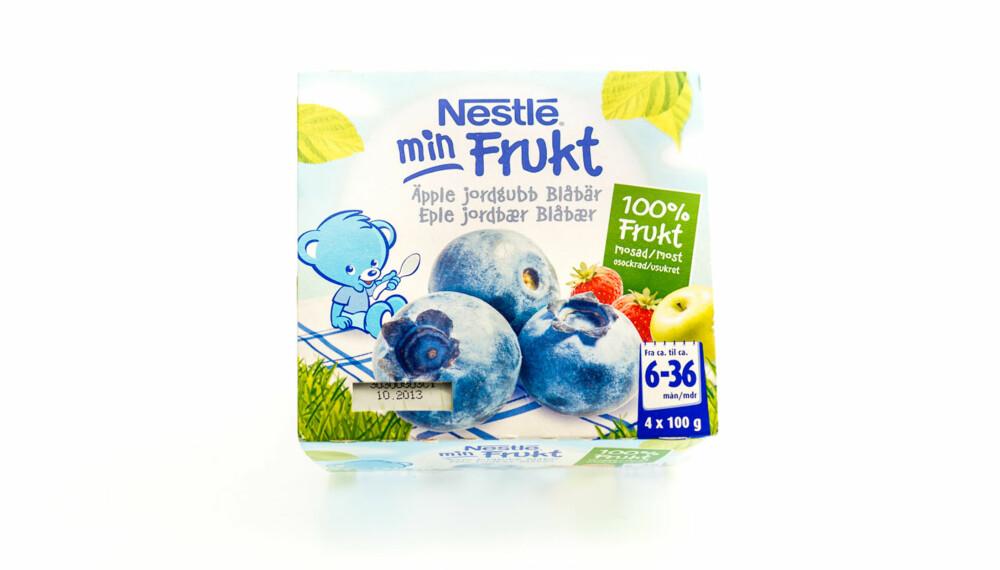 TEST AV FRUKTMOS/SMOOTHIE: Min frukt med eple, jordbær, blåbær