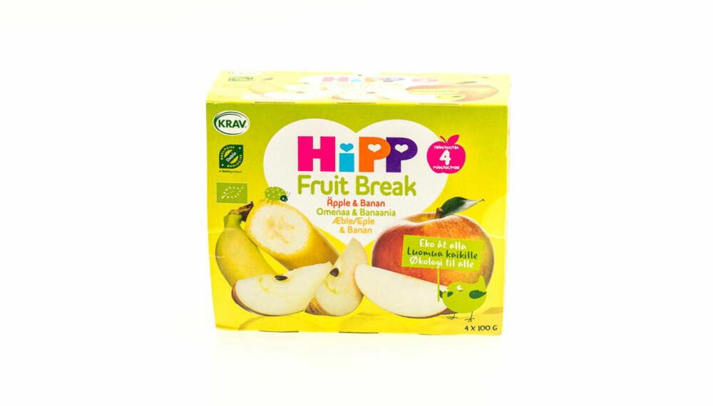 TEST AV FRUKTMOS OG SMOOTHIE: Fruit Break (eple og banan)