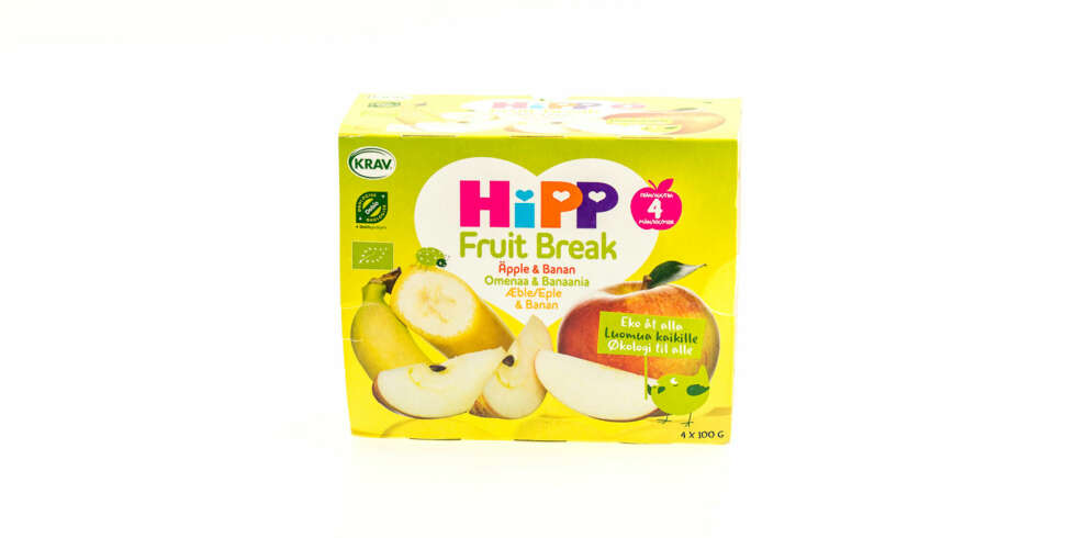 TEST AV FRUKTMOS OG SMOOTHIE: Fruit Break (eple og banan)