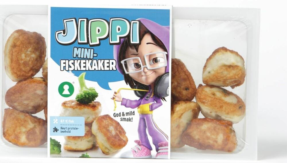 MINI-BRA: Jippis ene barnevariant inneholder 63 prosent fisk - men bare hvitlaks.