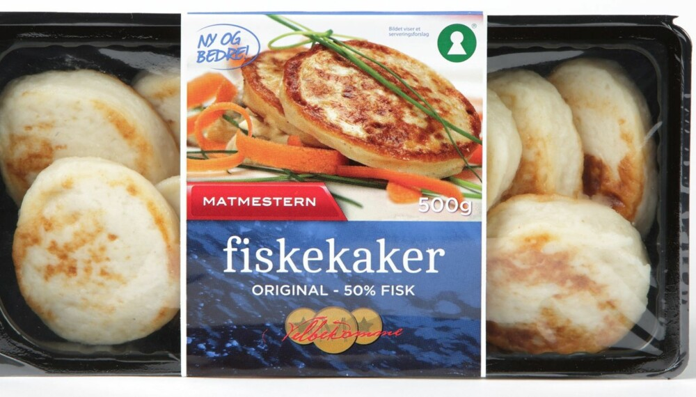 LITE FISK: Halvparten av Matmesteren original er fisk, og det er mer salt enn i de fleste andre produktene i testen.