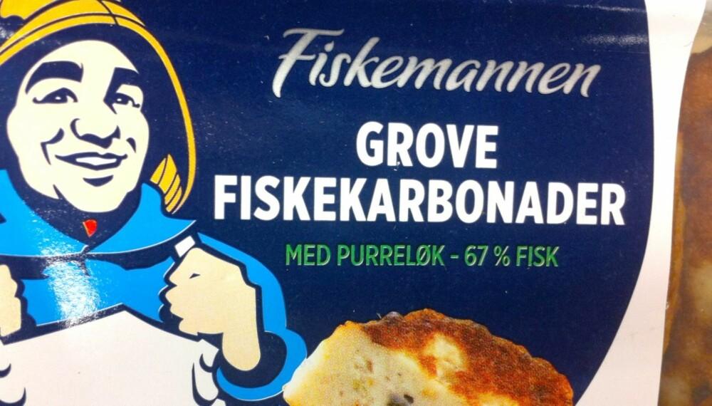 BRA PRODUKT: Fiskemannens grove fiskekarbonader har et solid fiskeinnhold, med 67 prosent.