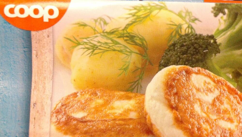 LITE FISK: Sammenliknet med proteininnholdet er kalorimengden høy i Coop-fiskekakene.